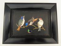 Antique Italian Pietra Dura Marble Panel Birds (4 of 5)