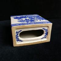 Antique Qing Dynasty Chinese Blue & White Opium Pillow (7 of 7)