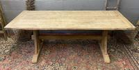French Oak Farmhouse Trestle Dining Table