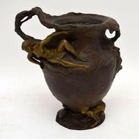 French Antique Art Nouveau Bronze Urn (2 of 10)