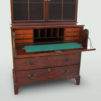 Mahogany Secretaire Bookcase (5 of 5)