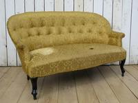 Antique French Button Back Sofa for Re-upholstery (8 of 8)
