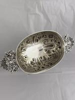 Victorian Antique Silver Fruit Bowl 1861 London William Stocker Sterling Bowl (11 of 11)