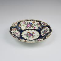 First Period Worcester Porcelain Blue Scale Junket Dish c.1770 (6 of 7)