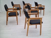 Danish design, Bjerringbro Savværk Møbelfabrik, 1970s, set of 6 dining armchairs, reupholstered (17 of 18)