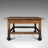 Antique Boulangerie Table, French, Pine, Shop, Bakery, Display, Victorian c.1880 (5 of 12)