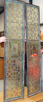 1850's Pair of Stained Glass Panels with Scenes Inset (3 of 4)
