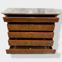 Exceptional Quality Inlaid Marble Top Commode (3 of 12)