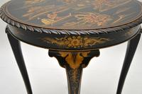 Antique Lacquered Chinoiserie Occasional Table (10 of 12)