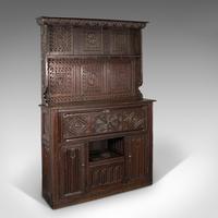 Large Antique Welsh Dresser, British, Cabinet, William III, 1700
