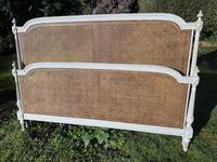 Kingsize Painted & Caned French Bed (9 of 9)