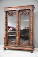 Anglo Indian Carved Rosewood Glazed Cabinet (7 of 14)