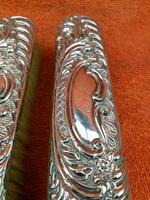 2 x Antique Sterling Silver Hallmarked Clothes Brush 1905 Williams (birmingham) Ltd (5 of 8)