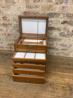 Mahogany Dentist Cabinet with Chrome Handle (8 of 9)