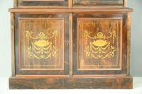 Edwardian Inlaid Rosewood Bookcase (4 of 12)