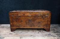 Oriental Carved Camphor Wood Chest c.1910 (10 of 12)