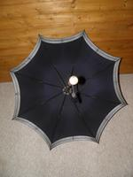 Antique Hallmarked 18 Carat Gold Plate Navy Canopy Umbrella by Feldman Brothers (5 of 15)