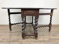 Antique 18th Century Welsh Oak Gateleg Table, Folding Table, Dining Table or Kitchen Table (4 of 12)