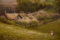 "Oil Painting by Walter Henry Goldsmith ""Springtime, Porlock, Somerset"" (3 of 6)"