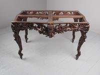 Victorian French Carved Fruitwood & Marble Top Console Table (13 of 19)