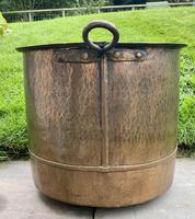 Large Sturdy Solid Copper Bin c.1900 (9 of 11)