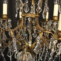 French Gilded Bronze Birdcage Crystal Chandelier (8 of 10)