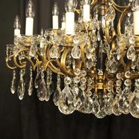 Italian Gilt & Crystal 22 Light Antique Chandelier (6 of 8)