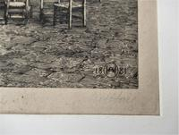 Fine antique print, Axel Herman Haig etching, Chartres Cathedral, signed 1881 (5 of 9)
