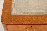 Blonde Oak Art Deco Desk (6 of 9)