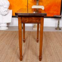 Writing Table 19th Century Flamed Mahogany Folding Card Console Table (3 of 12)