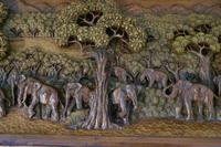 Indian Teak Coffee Table & Side Table Set Carved with Elephants (10 of 11)