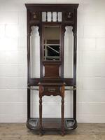 Antique Edwardian Mahogany Mirror Hall Stand (2 of 9)
