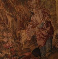 Antique French Tapestry Classical Courtly Love Romance c.1860 (17 of 17)