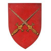 Six Edwardian Heraldic Shield Plaques (3 of 8)