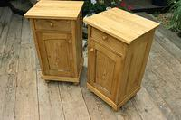 Fabulous! Pair of Old Stripped Pine Bedside Cabinets / Cupboards - We Deliver! (2 of 9)