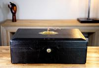 George V John Peck Black Morocco Leather Despatch Box (11 of 12)