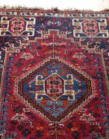 Vintage Persian Handmade Rug with a Vibrant Red & Blue Ground (3 of 8)