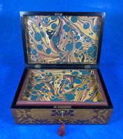 William IV Burr Maple & Rosewood Jewellery Box (6 of 12)