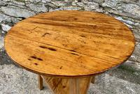 Antique Pine Cricket Table with Shelf (9 of 11)