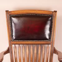 Teak Revolving Office Desk Chair (14 of 17)