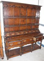 1960's Large Oak Dresser with Crossbanding and display rack with Spice Drawers (2 of 4)