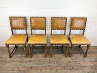 Set of Four Early 20th Century Leather Dining Chairs (3 of 10)