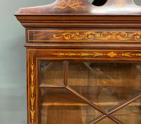Edwardian Slender Inlaid Mahogany Display Cabinet (12 of 21)