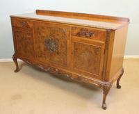 Burr Walnut Queen Anne Style Sideboard Server c.1930 (6 of 16)