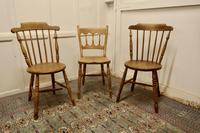 Collection of 3 Stripped Beech & Elm Country Windsor Chairs (4 of 12)
