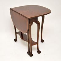 Antique Burr Walnut Drop Leaf Dining Table (7 of 11)