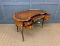 French Kingwood Parquetry Kidney Shaped Desk (15 of 19)