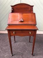 Edwardian Inlaid Mahogany Writing Desk