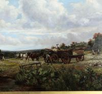 Country Scene with Hay Cart by Charles Thomas Burt (12 of 14)