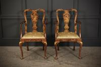 Pair of Chinoiserie Japanned Armchairs (9 of 16)